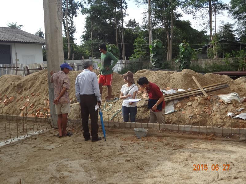 教場の梁柱の確認