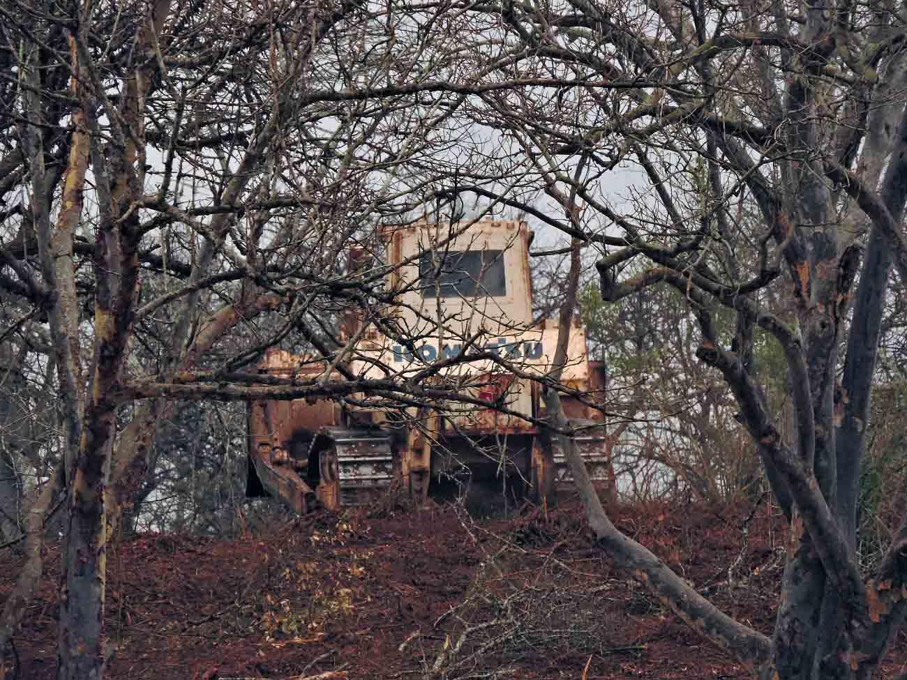 処理現場に向かう地雷処理機今日も快調に稼働
