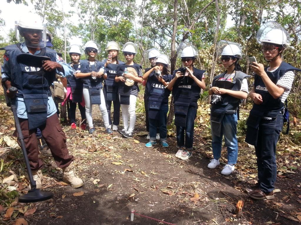 CBPD 横浜国際高校生徒の地雷処理現場見学