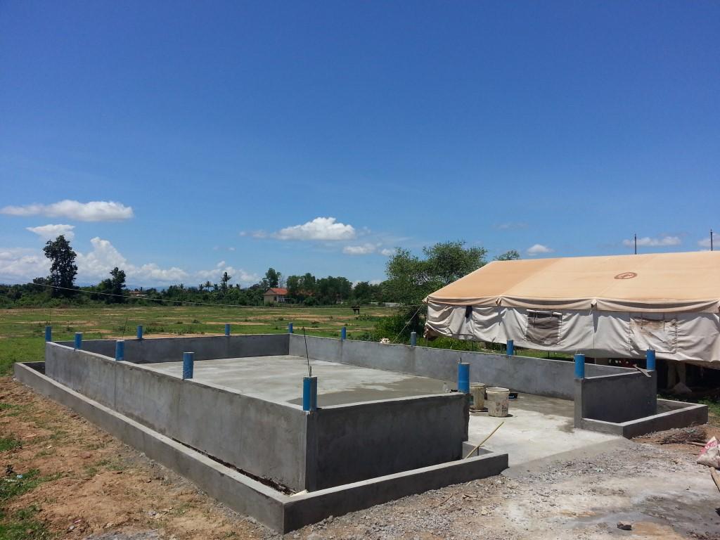CBPD テント支柱受け完成の野外教場