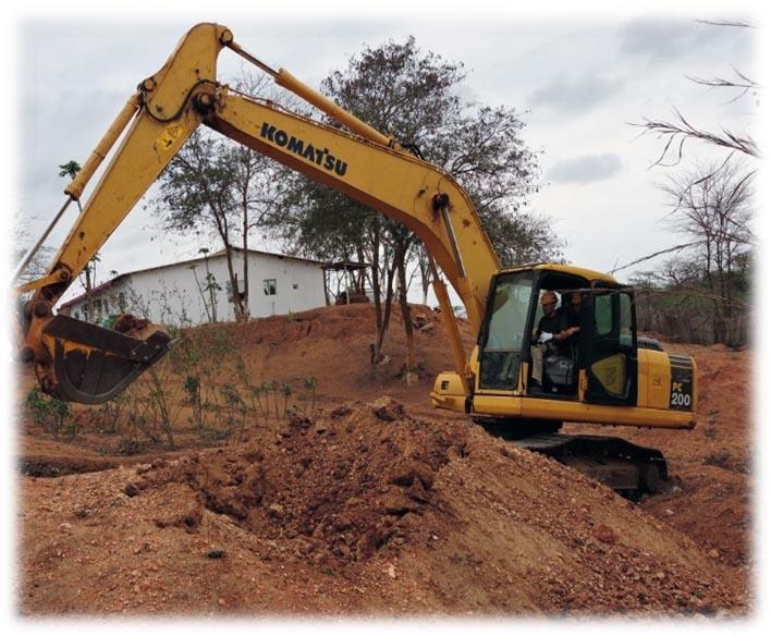 ゴミ穴の掘削