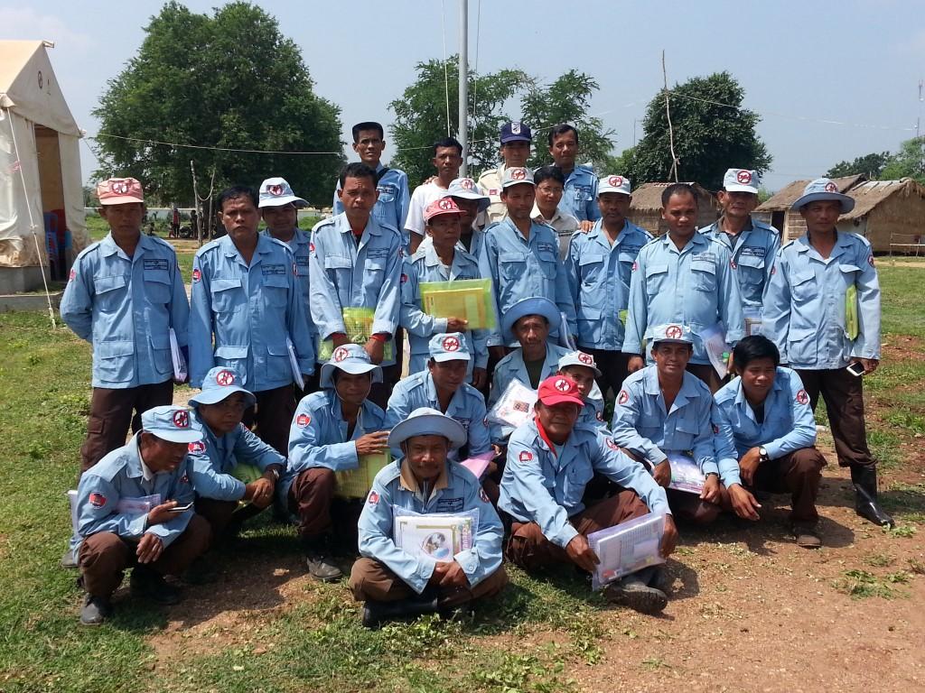 CBPD 137小隊教育初日の記念写真
