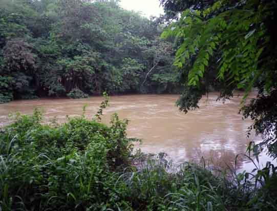 ダンデ川増水