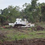 CBPD 灌木地を果敢に処理するDM