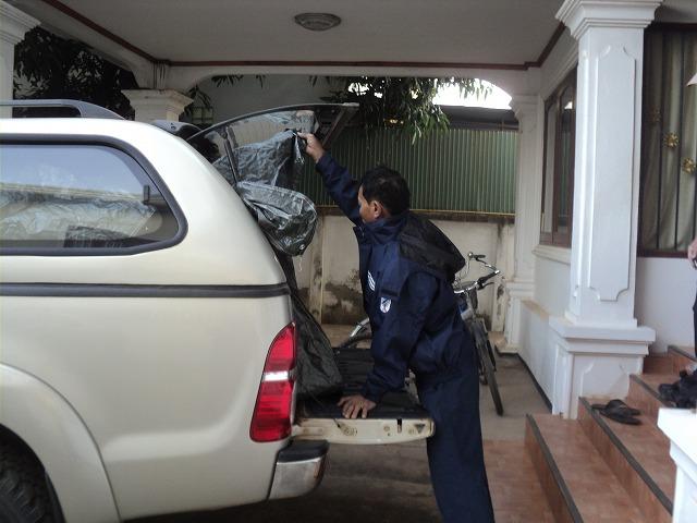 車両への荷積み